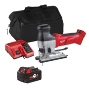 Milwaukee HD18JSBITS 18v M18 Body Grip Jigsaw with 1 x 4Ah Battery, Charger and Bag