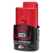 Milwaukee M12B2 12v 2Ah Li-ion Battery
