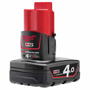Milwaukee M12B4 12v M12 4Ah Li-ion Battery