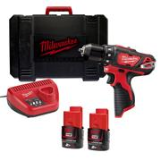 Milwaukee M12BDD-202C 12v M12 Drill Driver with 2 x 2Ah Batteries, Charger and Case