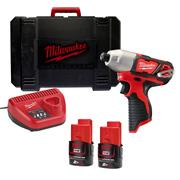 Milwaukee M12BID-202C 12v M12 Impact Driver  with 2 x 2Ah Batteries, Charger and Case