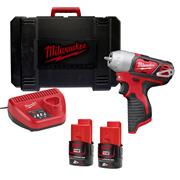 "Milwaukee M12BIW4202C Milwaukee 12v RED Li-ion 1/4"" Impact Wrench"