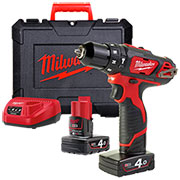 Milwaukee 4933441935 Milwaukee 12v Cordless Li-ion Compact Hammer Drill Driver