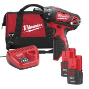 Milwaukee 4933448797 M12 Sub Compact Screwdriver c/w 2 x 1.5ah Batts & Bag