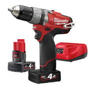 Milwaukee M12CDD402C Milwaukee 12V Fuel 4.0Ah Lithium-ion Cordless Brushless Drill/Driver