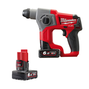 Milwaukee M12CH0602X Milwaukee 12v RED Li-ion Brushless SDS+ Drill - 2 x 6.0Ah Batteries