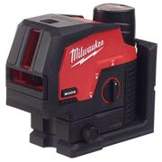 Milwaukee  Milwaukee 12V Green Cross Line, 2 Plane Laser, with 1 x 3AH battery, Charger and Case