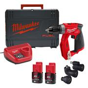 Milwaukee M12FDDXKIT-202X 12v M12 FUEL 4-In-1 Drill Driver Kit with  2x 2Ah Batteries, Charger & Case