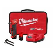 Milwaukee M12FDGA422B M12 FUEL Angled Die Grinder with 1 x 4Ah, 1 x 2Ah, Charger and Bag