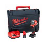 Milwaukee M12FIWF12-622X 12v M12 FUEL 1/2'' Impact Wrench with 1 x 6Ah and 1 x 2Ah Battery, Charger and Case
