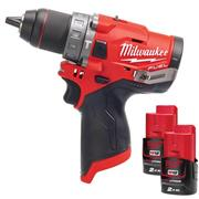Milwaukee  Milwaukee 12v Fuel Combi Drill Set, with 2 x 2Ah batteries, charger and bag