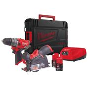 Milwaukee M12 FPP2G-202X M12 FUEL Powerpack 2 x 2Ah Batteries, Charger and Case