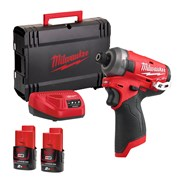 Milwaukee  Milwaukee 12v Fuel Surge Hydraulic Impact Driver, with 2 x 2Ah batteries, Charger and Case