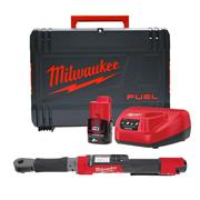 """Milwaukee M12 ONEFTR12-201C 12V M12 FUEL ONE-KEY 1/2"""" Digital Impact Torque Wrench with 1 x 2Ah Battery, Charger and Case"""