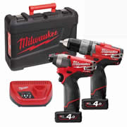 Milwaukee M12PPA-402C Milwaukee 12v Fuel 2 Piece Powerpack Kit