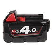 Milwaukee M18B4 18v Red-Lithium 4.0Ah Battery