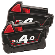 Milwaukee M18B4PK2 Milwaukee 18V Red-Lithium 4.0Ah Lithium-ion Battery Pk2