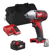 Milwaukee M18BIW38ITS 18v M18 3/8'' Impact Wrench with 1 x 4Ah Battery, Charger and Bag