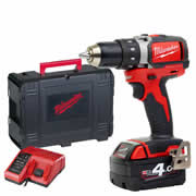 Milwaukee M18BLDD401C Milwaukee 18V Li-ion Brushless Drill Driver 1 x 4.0Ah Battery