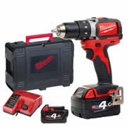 Milwaukee M18BLDD402C Milwaukee 18V Li-ion Brushless Drill Driver 2 x 4.0Ah Batteries