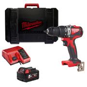 Milwaukee M18BLPD2501 M18 Brushless Combi Drill with 1 x 5Ah Battery, Charger and Case