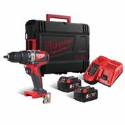 Milwaukee  Milwaukee 18V Brushless Combi Drill with 2 x 5Ah batteries, Charger and Case