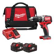 Milwaukee M18BLPD402CB 18v Brushless Combi Drill - 2 x 4Ah