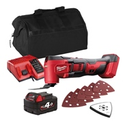 Milwaukee M18BMTITS Milwaukee M18 BMTITS 18V M18 Multi Tool with 1 x 4Ah Battery, Charger and Bag
