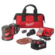 Milwaukee M18BOS125502B M18 BOS Random Orbit Sander - Kit