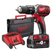 Milwaukee M18 BPD 401-C 18v RED Li-ion Combi Drill - 1 x 4Ah
