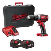 Milwaukee M18 BPD 402-C 18v RED Li-ion Combi Drill - 2 x 4Ah