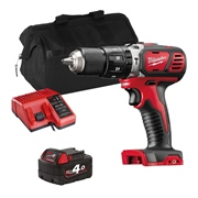 Milwaukee M18BPDITS 18v M18 Combi Drill with 1 x 4Ah Battery, Charger and Bag