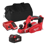 Milwaukee M18BPITS 18v M18 Planer with 1 x 4Ah Battery, Charger and Bag