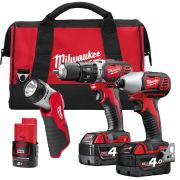 Milwaukee M18 BPP22-402CBPK Milwaukee 18v RED Li-ion 3 Piece Kit