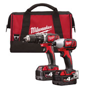 Milwaukee M18 BPP2C-402CB Milwaukee 18v RED Li-ion 2 Piece Kit