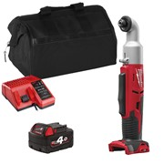Milwaukee M18BRAIDITS 18v M18 Right Angle Drill with 1 x 4Ah Battery, Charger and Bag