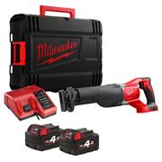 Milwaukee  Milwaukee 18V Sawsall with 2 x 4ah batteries, Charger and Case
