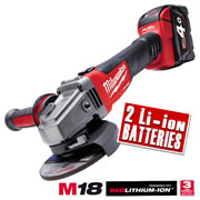 Milwaukee M18CAG115X402C Milwaukee 18v Fuel Brushless Red Li-ion 115m Grinder