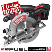 Milwaukee M18CCS55402C Milwaukee 18v RED Li-ion Fuel Brushless Circular Saw