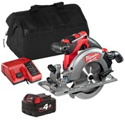 Milwaukee M18CCS55ITS Milwaukee M18 CCS55ITS 18V M18 FUEL 165mm Circular Saw with 1 x 4Ah Battery, Charger and Bag