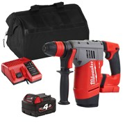 Milwaukee M18CHPX Milwaukee M18 CHPX 18V M18 FUEL SDS+ Drill with 1 x 4Ah Battery, Charger and Bag