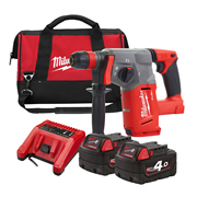 Milwaukee M18CHX402XB M18 FUEL SDS+ Hammer Drill - 2 x 4Ah Batteries