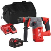 Milwaukee M18CHXITS Milwaukee M18 CHXITS 18V M18 FUEL SDS+ Drill with 1 x 4Ah Battery, Charger and Bag