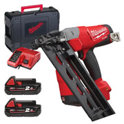 Milwaukee M18 CN16GA-202X Milwaukee M18 FUEL 16 GA Angled Finish Nailer - 2.0Ah Batteries