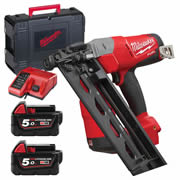 Milwaukee M18 CN16GA-502X Milwaukee M18 FUEL 16 GA Angled Finish Nailer - 5.0Ah Batteries