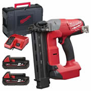 Milwaukee M18 CN18GA-202X Milwaukee M18 FUEL 18 GA Straight Finish Nailer - 2.0Ah Batteries