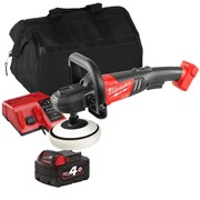 Milwaukee M18FAP 18v M18 FUEL Polisher with 1 x 4Ah Battery, Charger and Bag