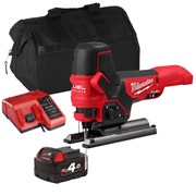Milwaukee  18v M18 FUEL Body Grip Jigsaw with 1 x 4Ah Battery, Charger and Bag