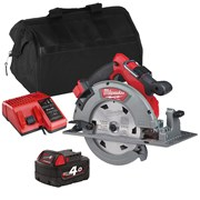 Milwaukee M18FCS66ITS Milwaukee M18 FCS66ITS 18V M18 FUEL 190mm Circular Saw with 1 x 4Ah Battery, Charger and Bag