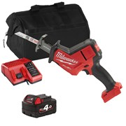 Milwaukee M18FHZITS Milwaukee M18 FHZITS 18V M18 FUEL Hackzall with 1 x 4Ah Battery, Charger and Bag